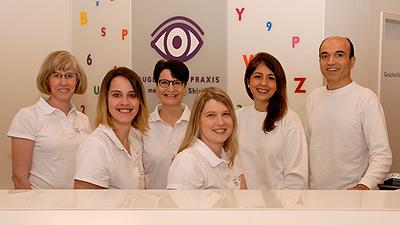 Team der Augenarztpraxis Shirkhani in Pirmasens